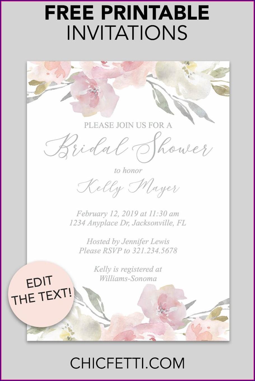 Printable Bridal Shower Invitation Templates