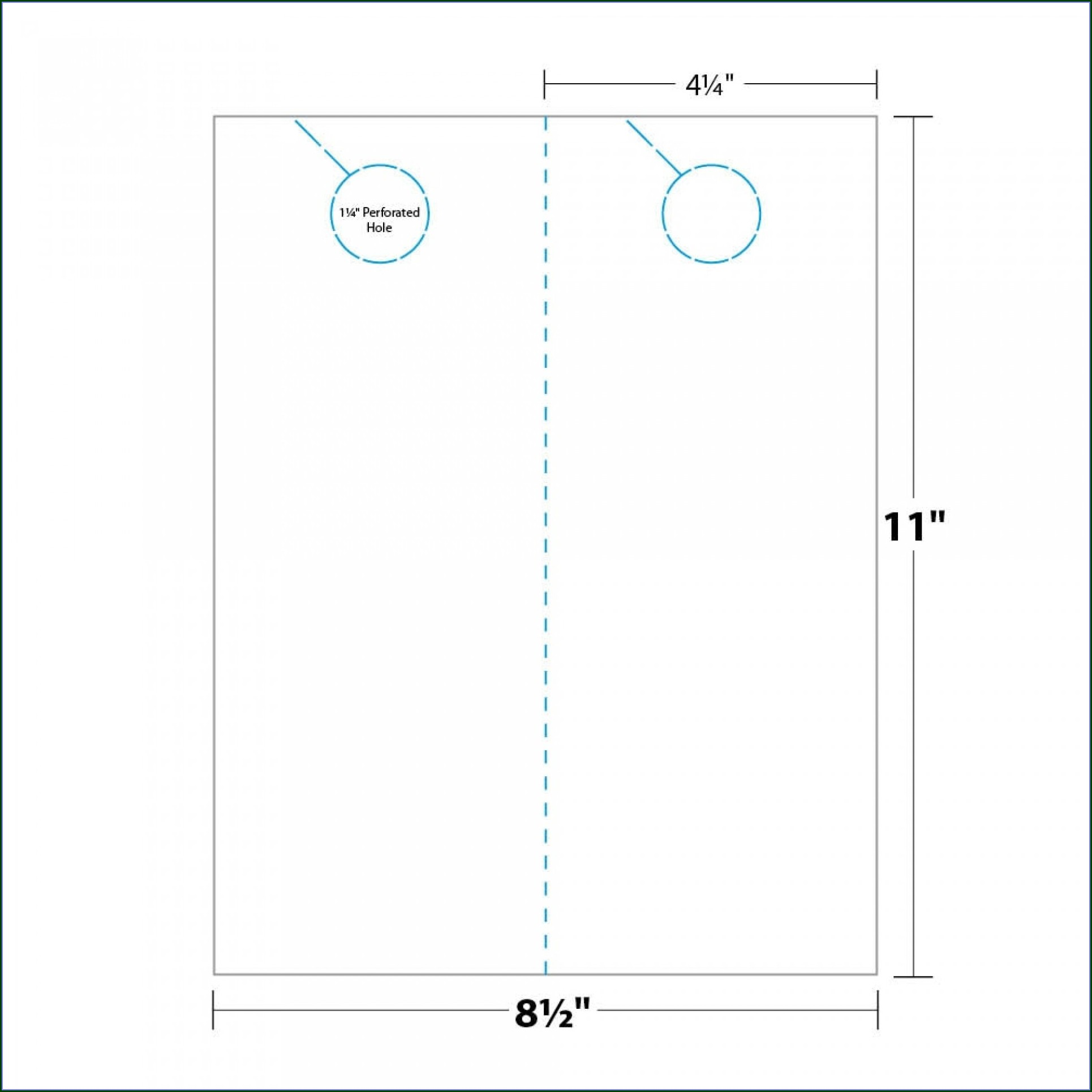 Printable Door Knob Hole Template