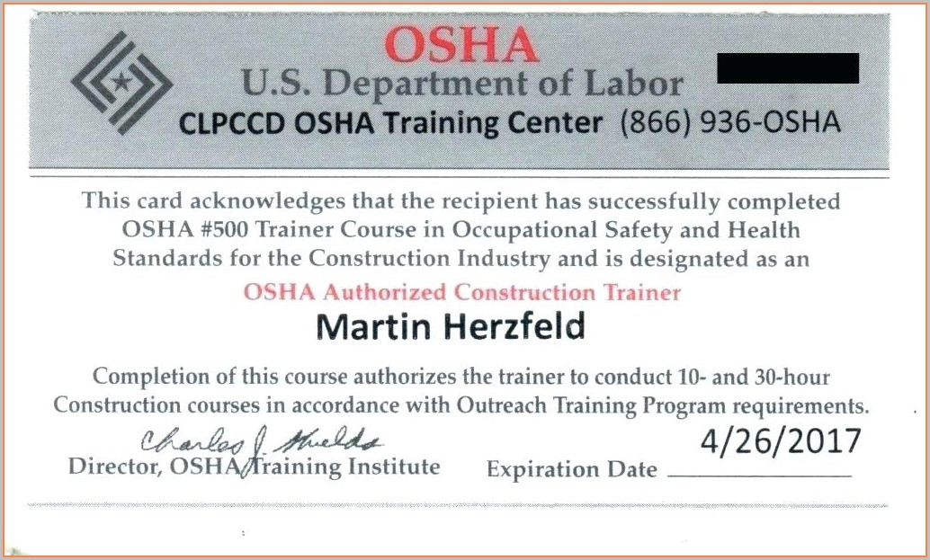 Printable Free Aerial Lift Certification Card Template