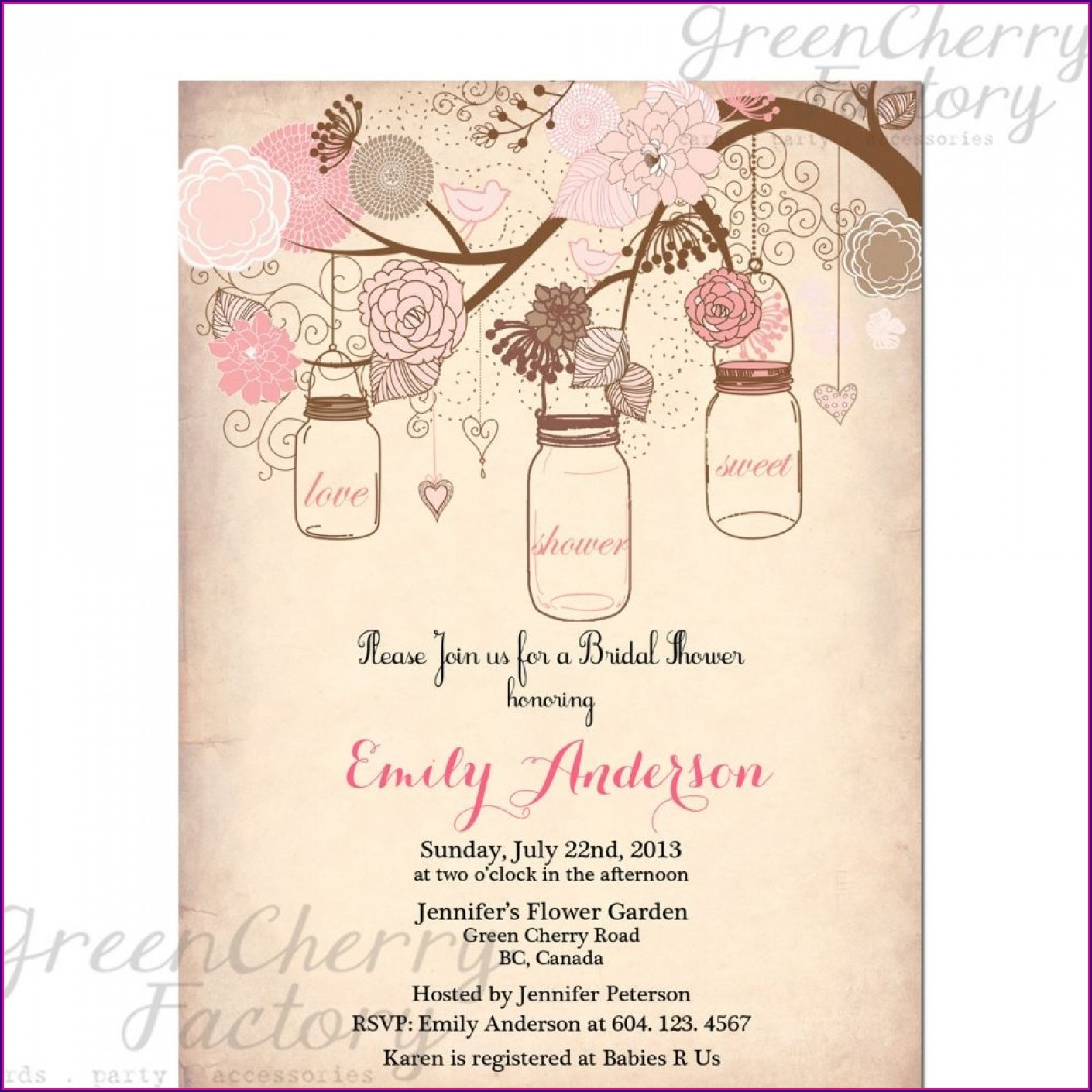 Printable Free Rustic Bridal Shower Invitation Templates