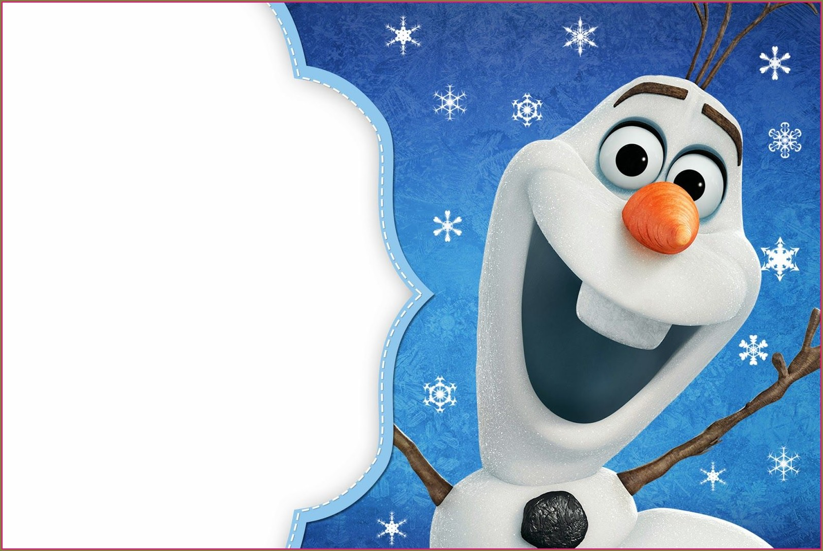Printable Frozen Party Invitation Template