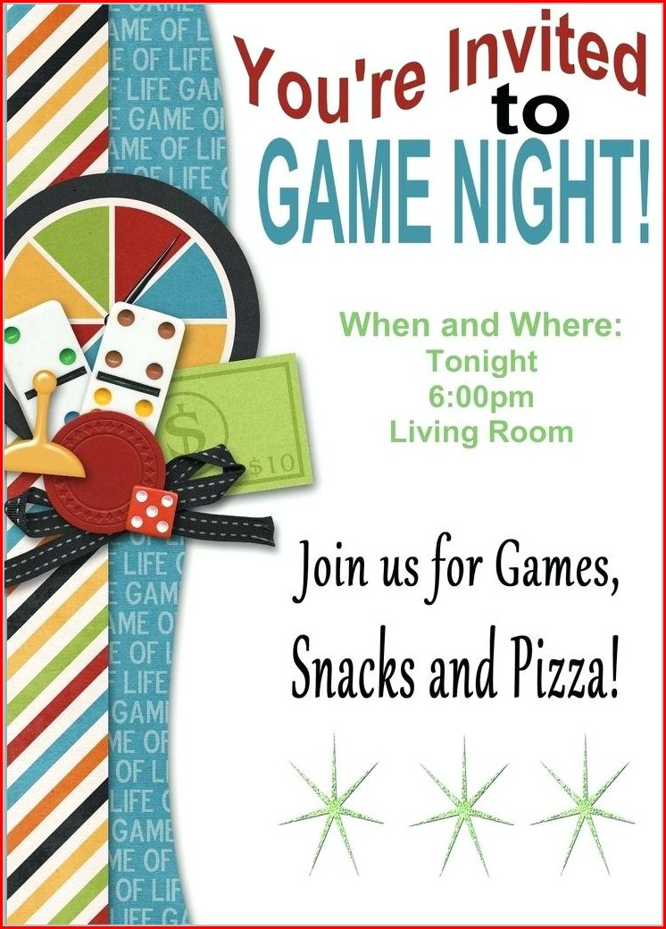 Printable Game Night Invitation Template