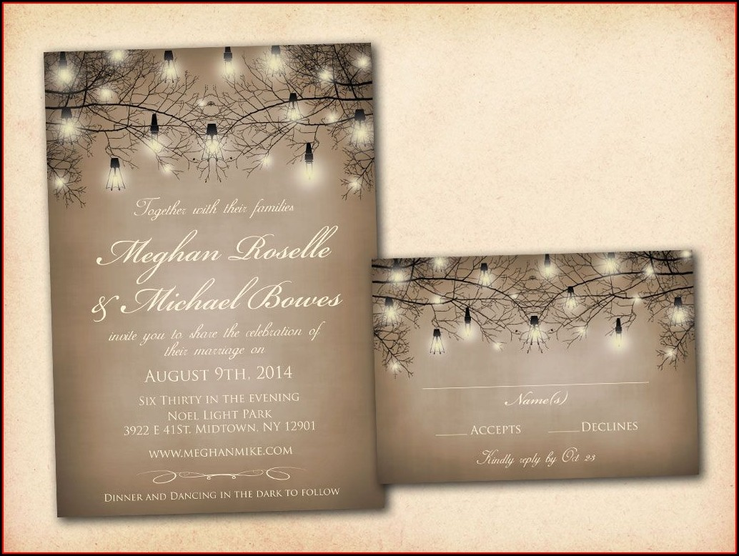 Printable Gothic Wedding Invitation Templates