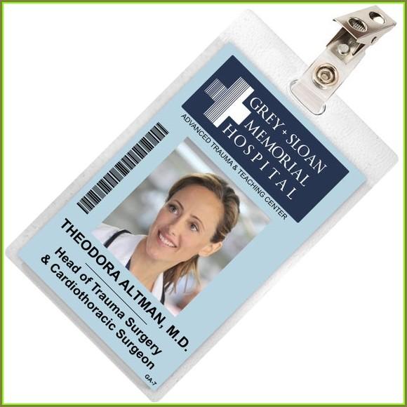 Printable Grey's Anatomy Id Badge Template
