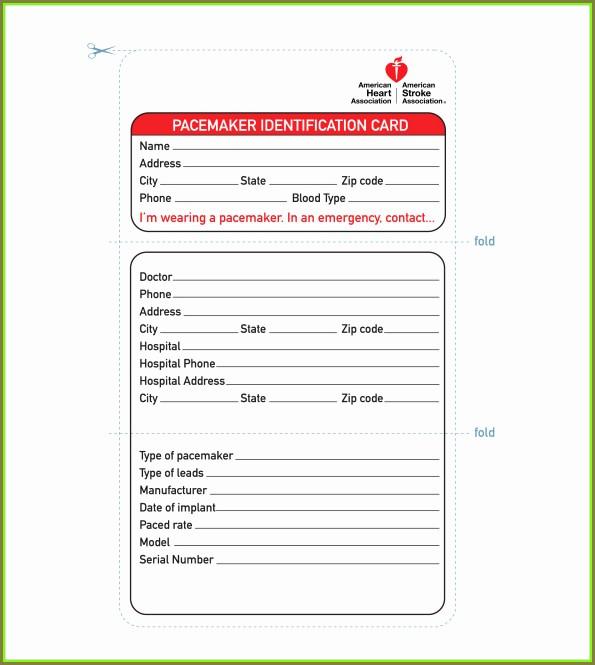 Printable Identification Card Printable Id Badge Template