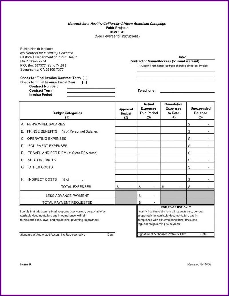 Printable Mechanic Invoice Template