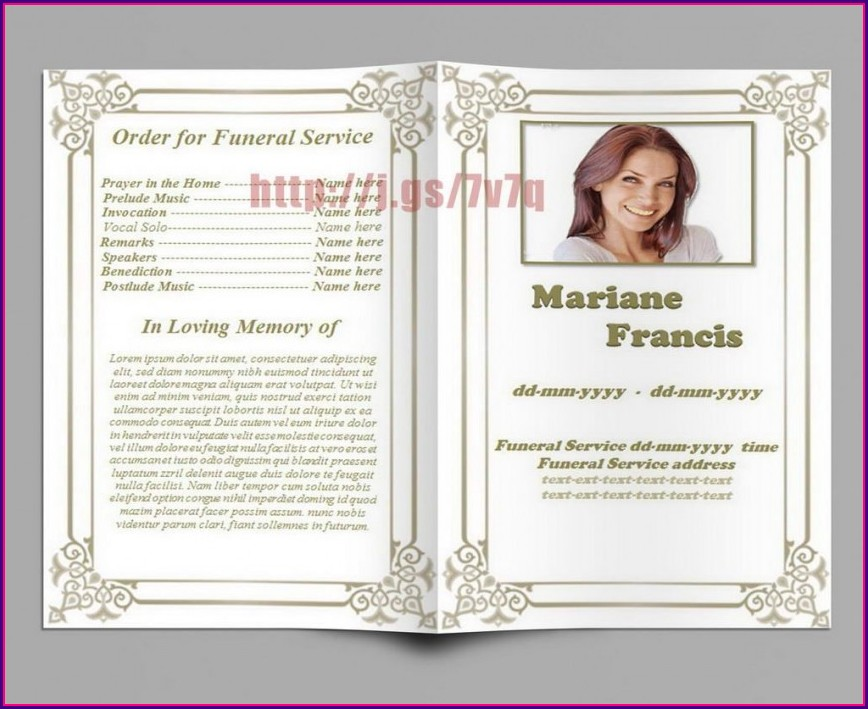 Printable Memorial Service Invitation Template Free