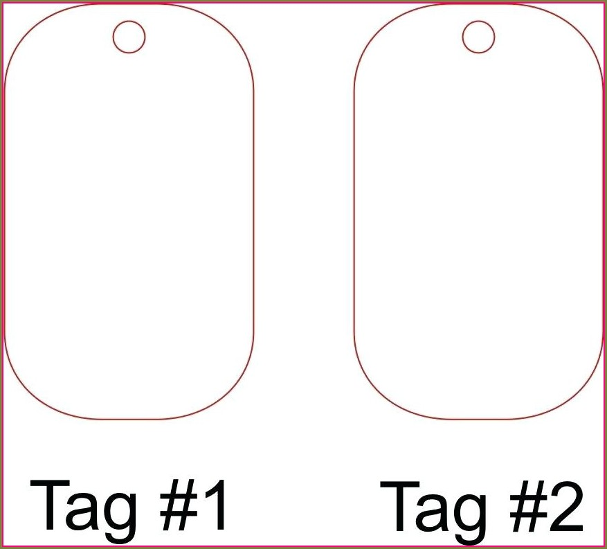 Printable Military Dog Tag Template
