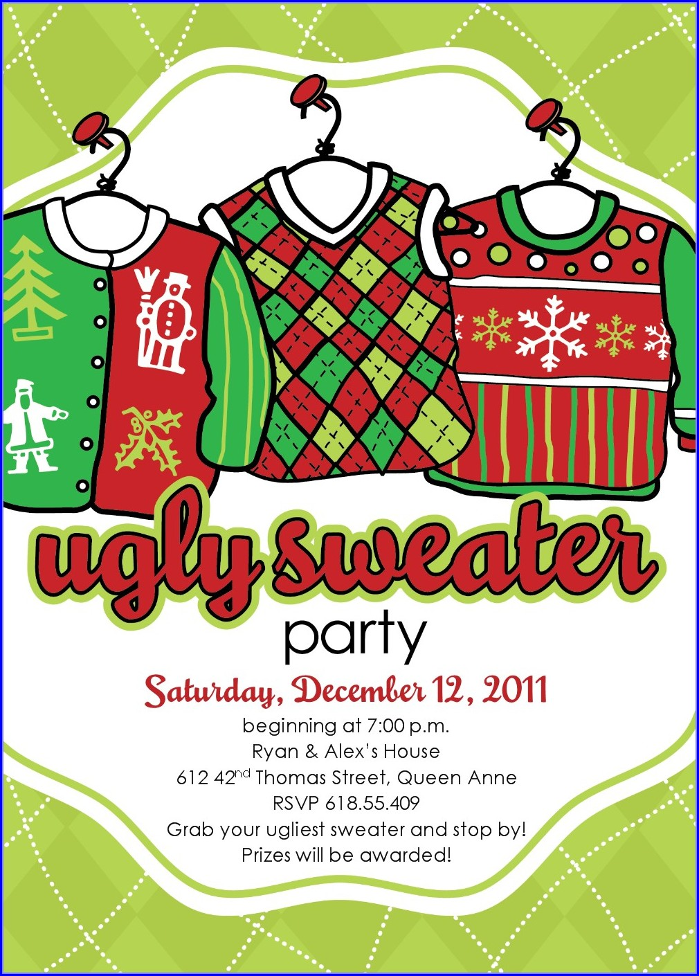 Printable Ugly Christmas Sweater Template