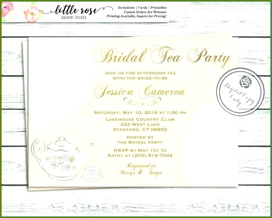 Printable Vintage Tea Party Invitation Templates Free