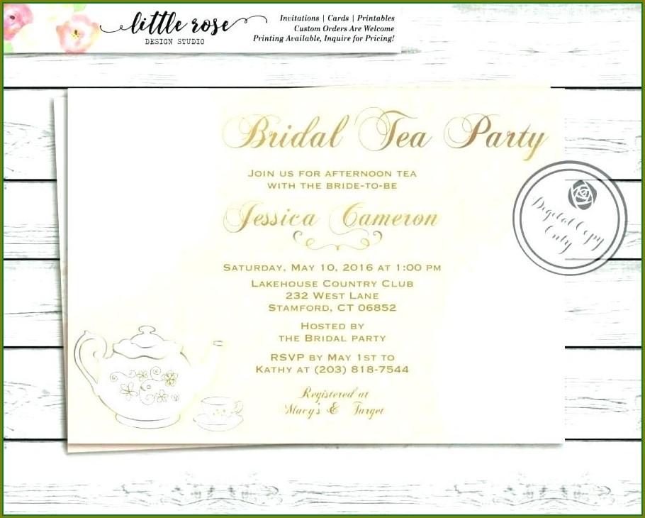 Printable Vintage Tea Party Invitation Templates Free