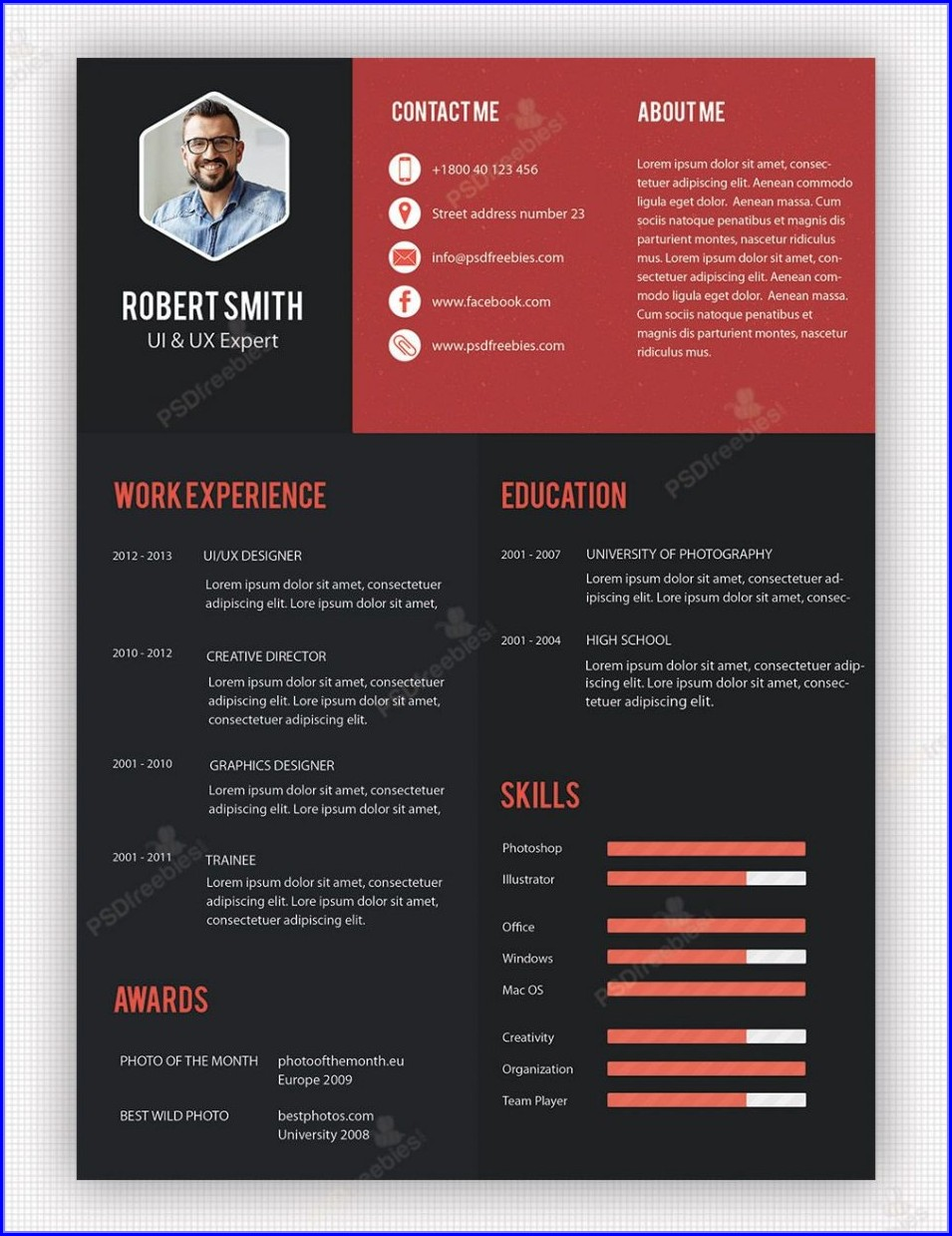 Professional Free Creative Resume Templates