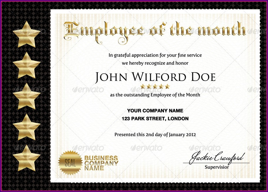 Professional Looking Certificate Templates