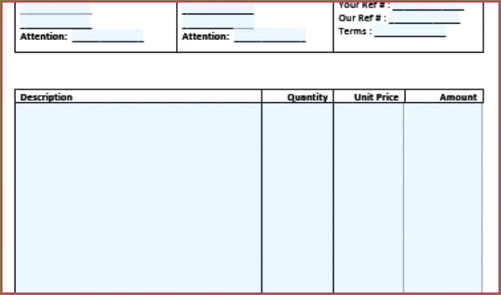 Professional Services Invoice Template India