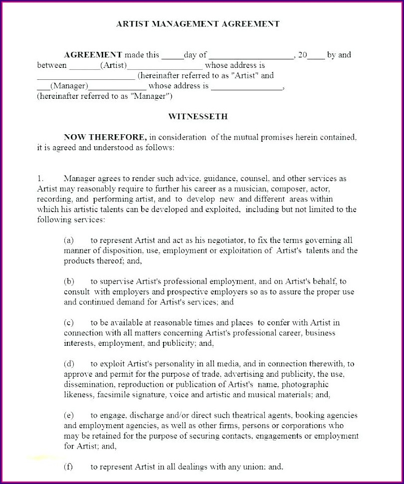 Project Agreement Project Management Contract Template