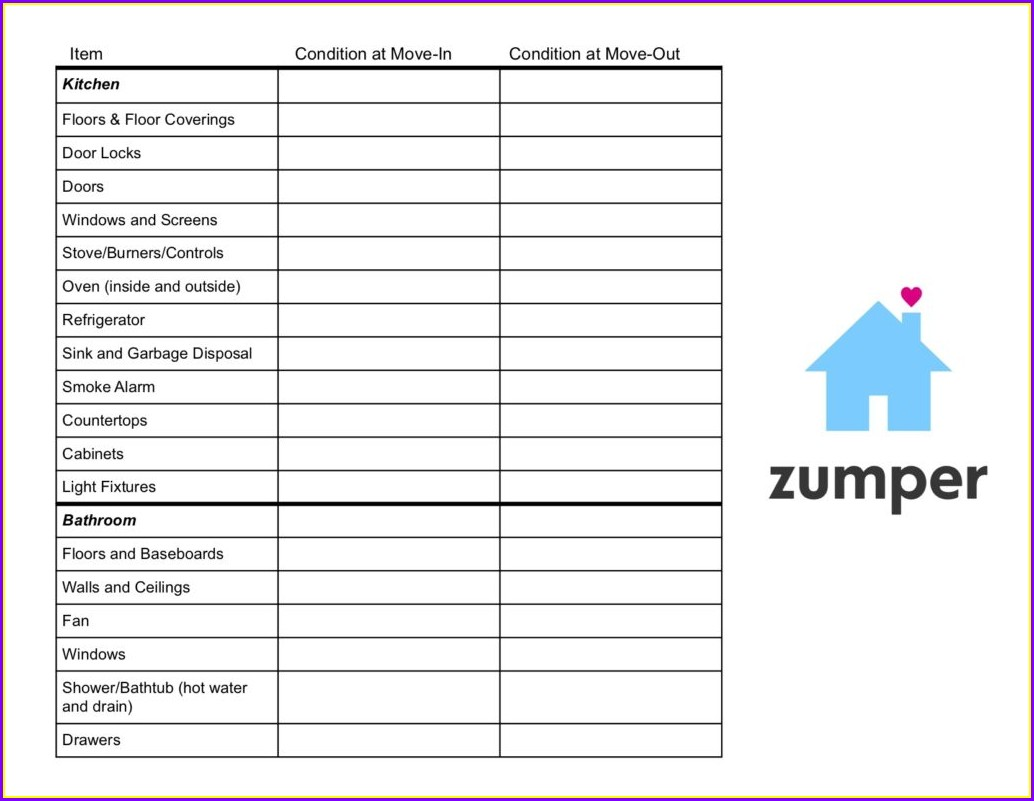 Property Inspection Form Template