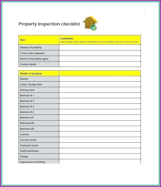 Property Inspection Template Word