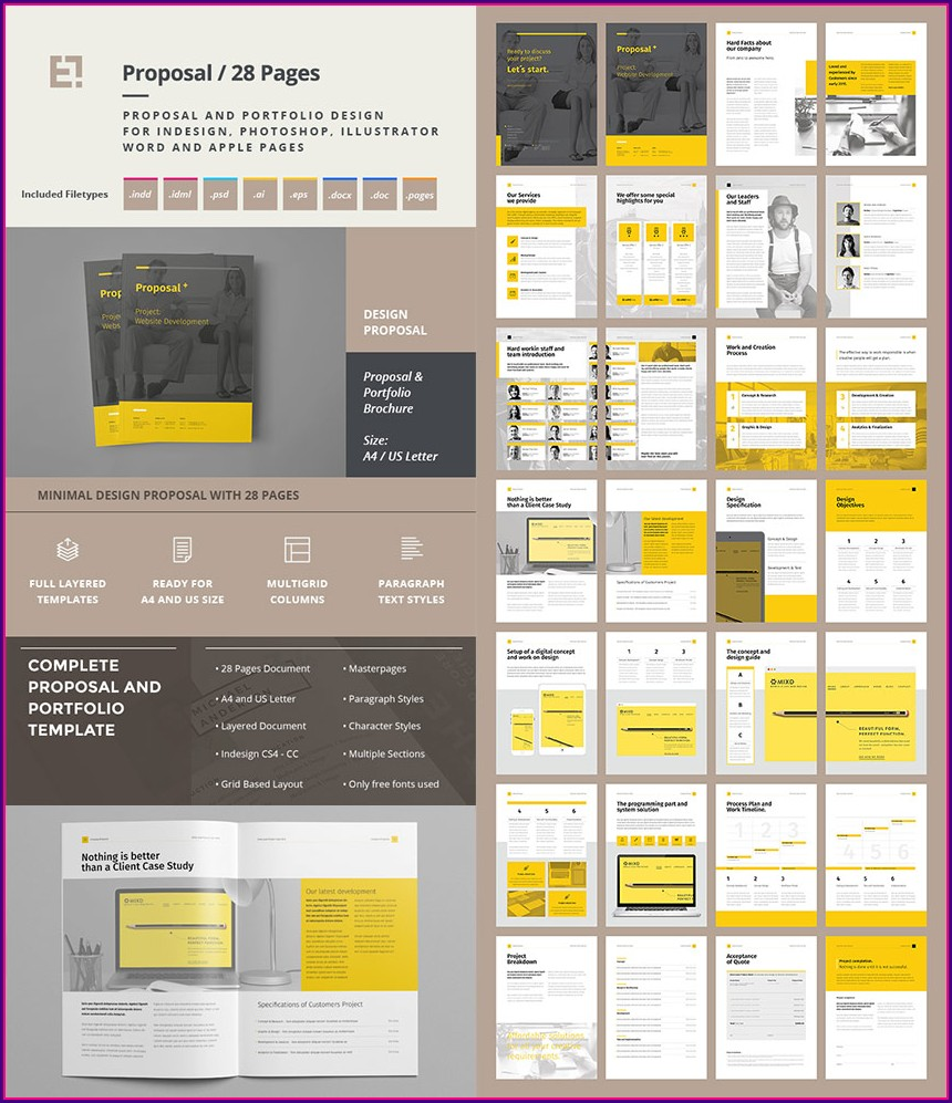 Proposal Template Design Free Download