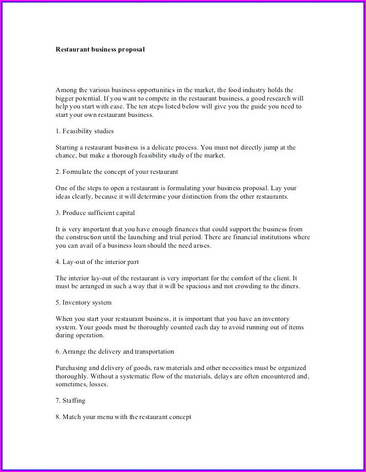 Proposal Template Sample Consulting Proposal Letter