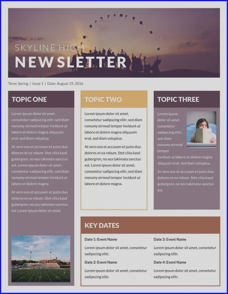Publisher Email Newsletter Templates