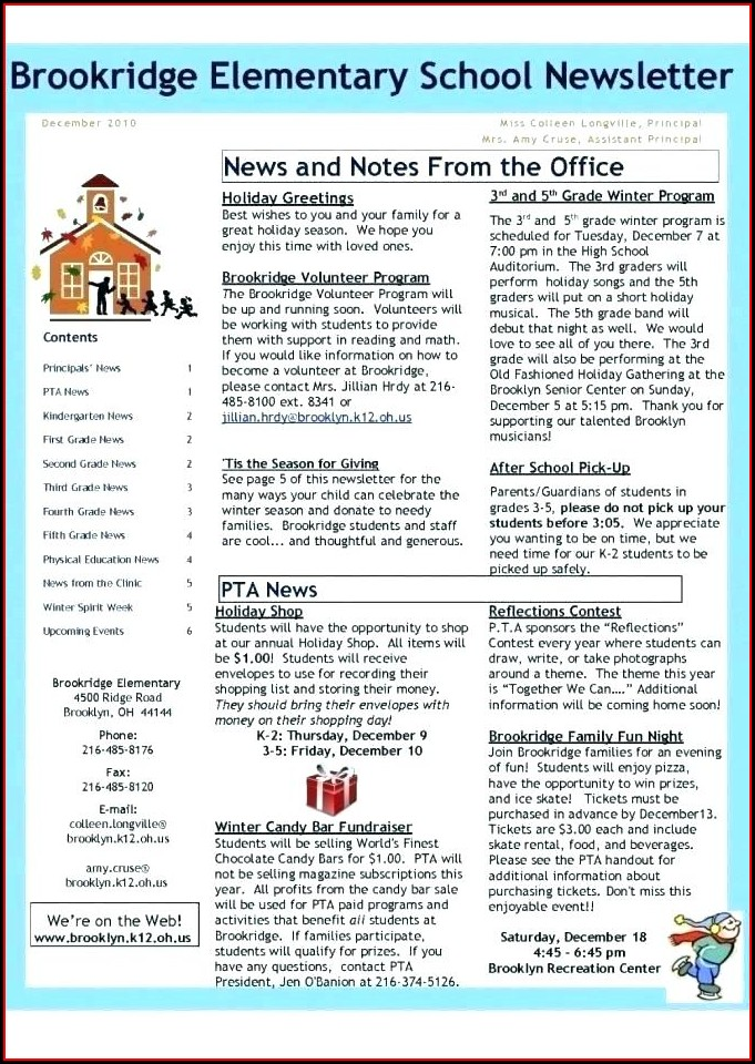 Publisher Winter Newsletter Template