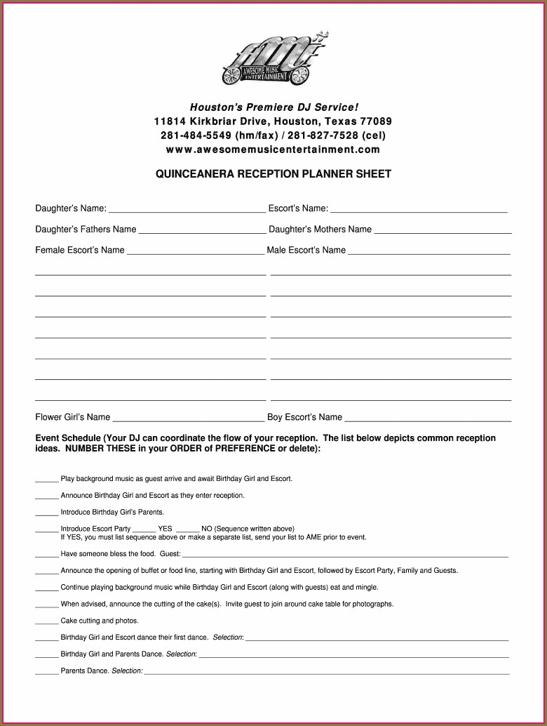Quinceanera Mass Program Template