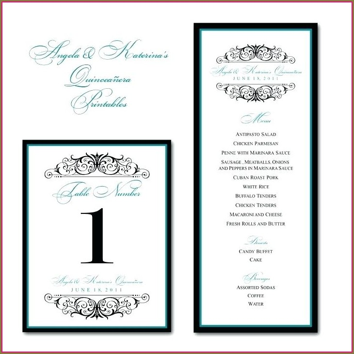 Quinceanera Program Template