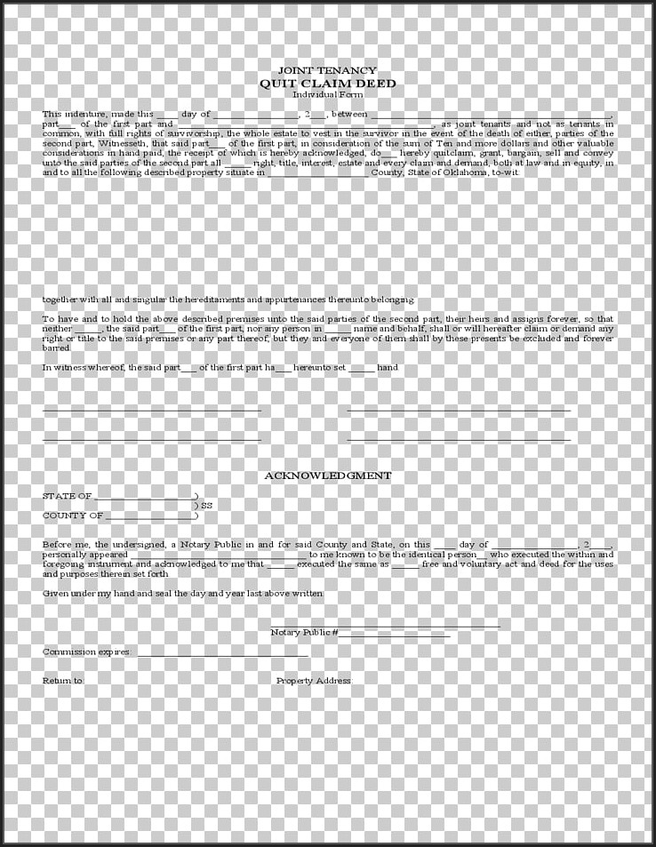 Quitclaim Deed Template Free