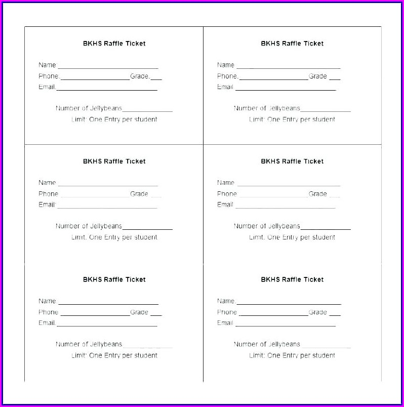 Raffle Draw Ticket Design Template
