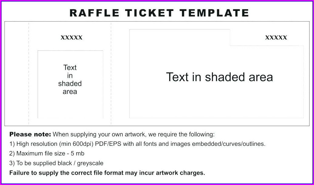 Raffle Ticket Design Template Free