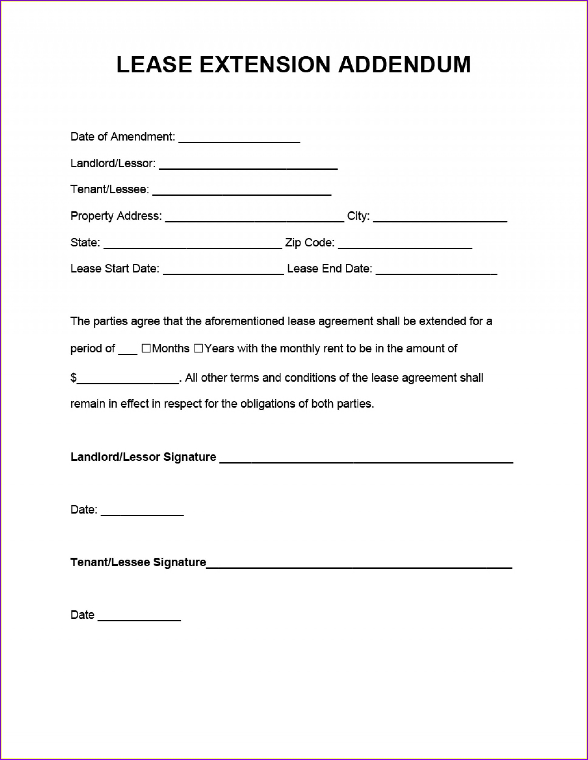 Renewal Lease Agreement Template