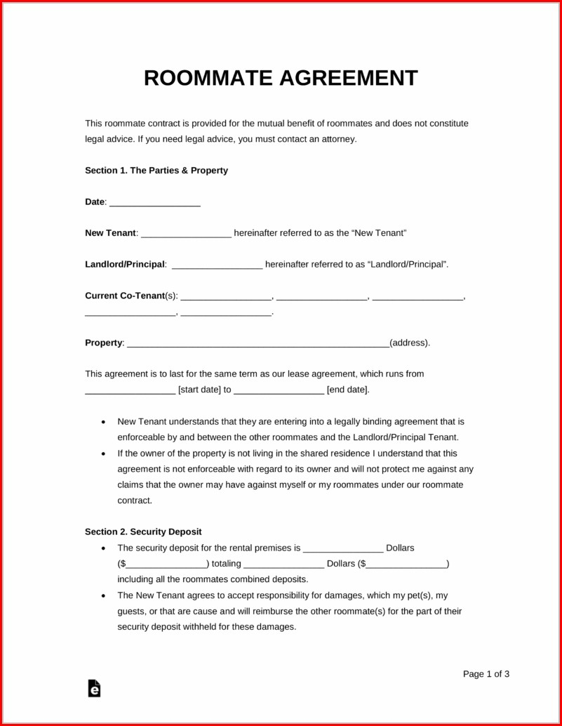 Rent A Room Agreement Template