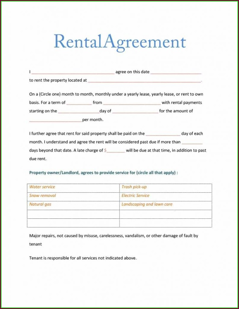 Rental Agreement Commercial Lease Agreement Template