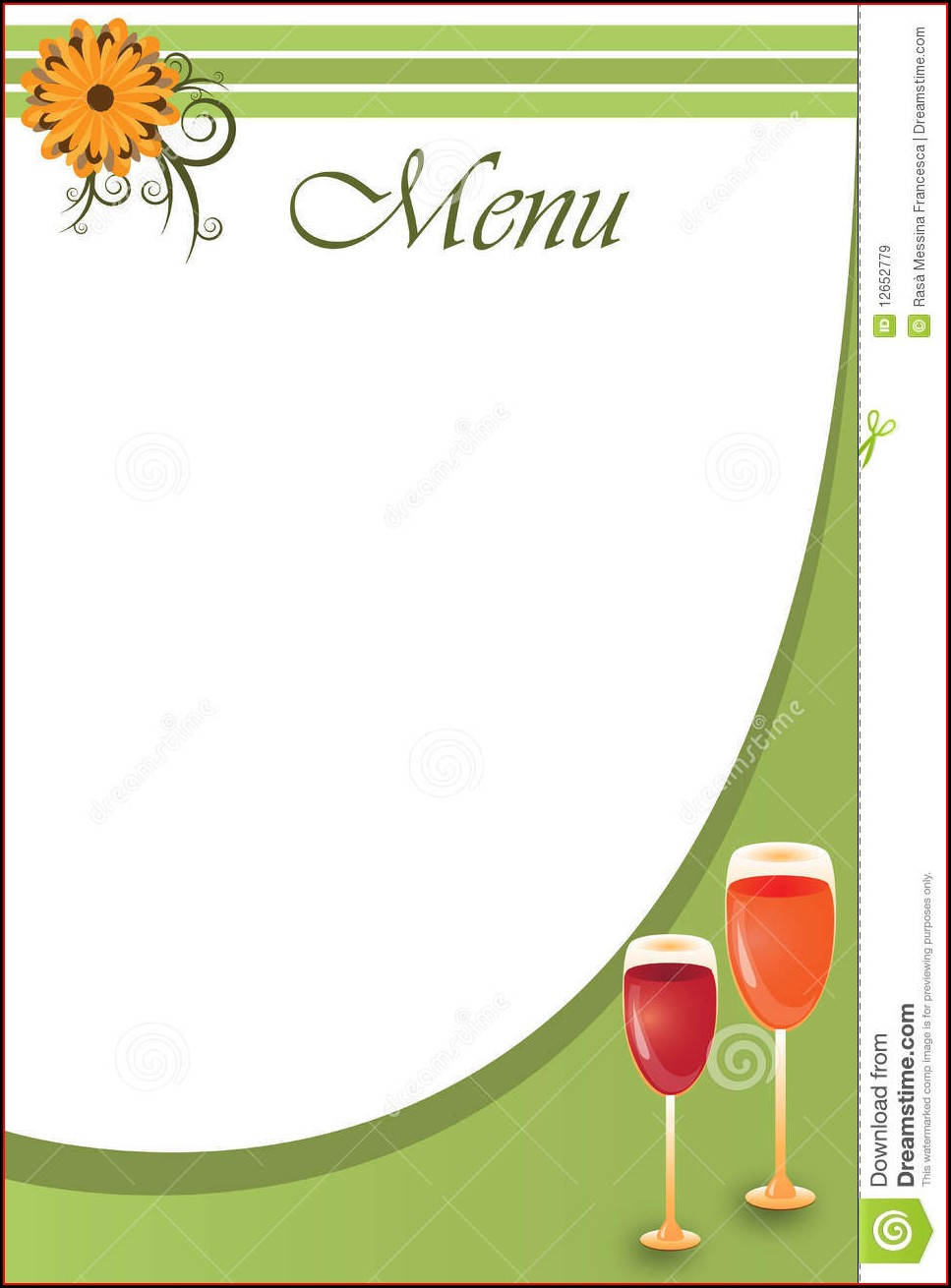 Restaurant Menu Templates Blank Design Menu Card Background