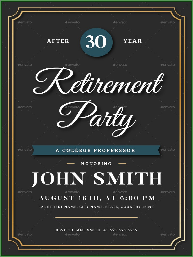 Retirement Party Invitation Template Word