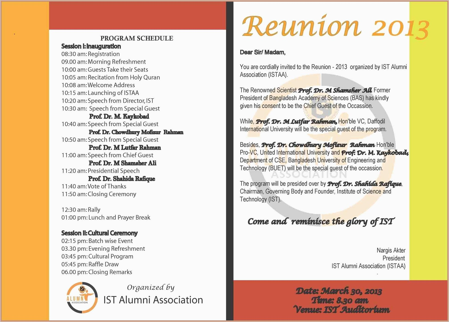 Reunion Invitation Templates Free