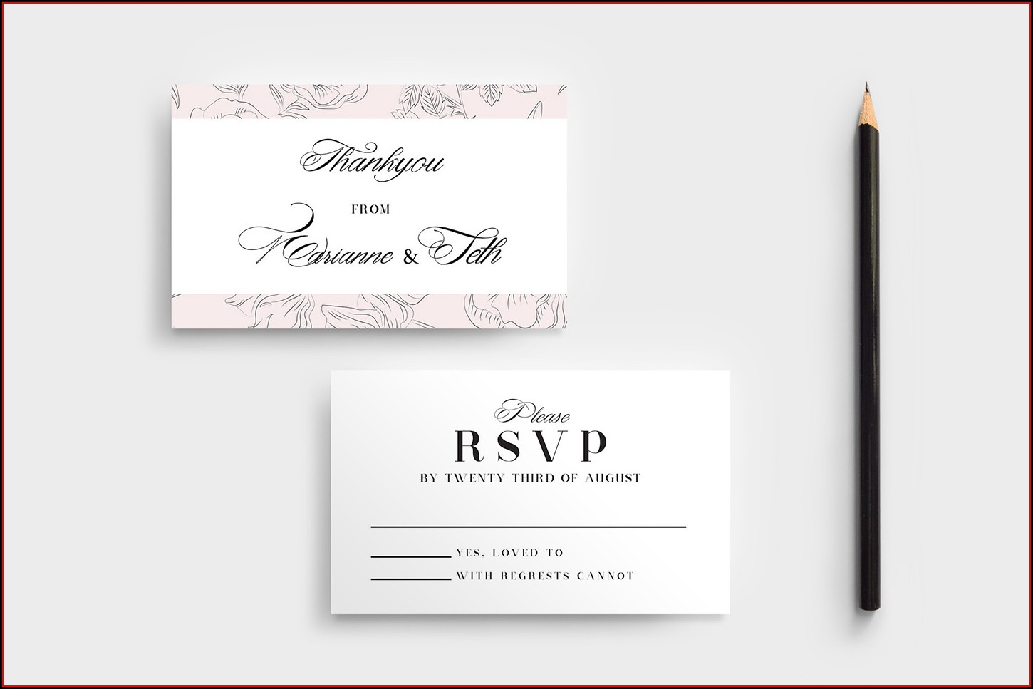 Rsvp Cards Template Free