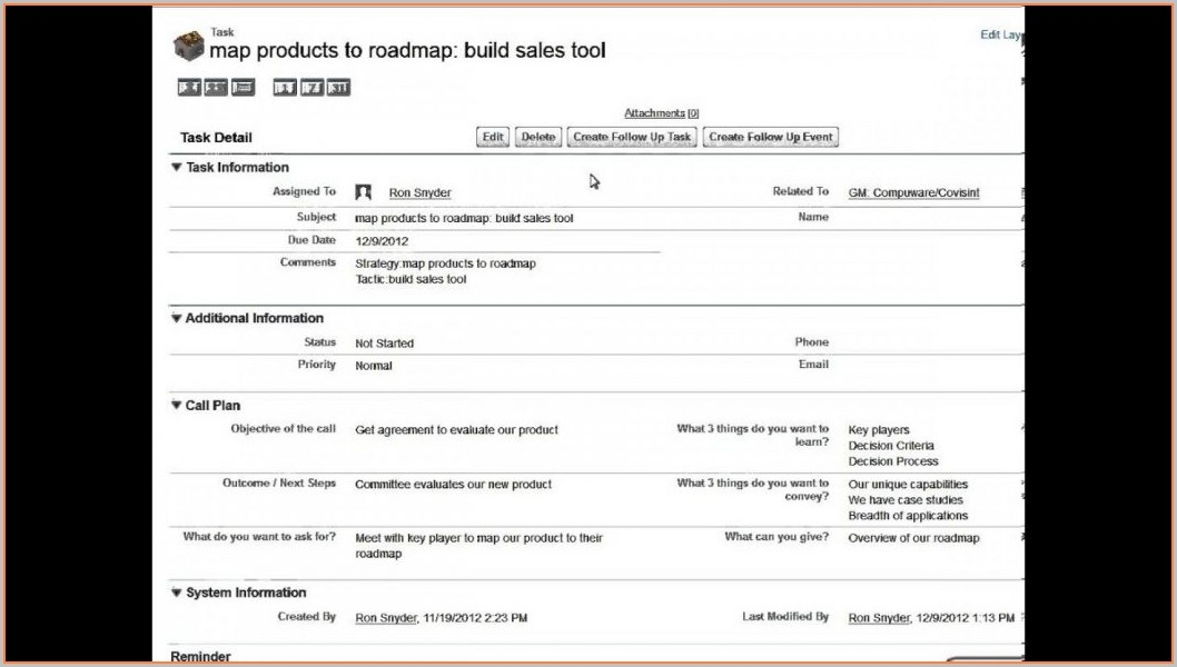Sales Account Planning Template Excel