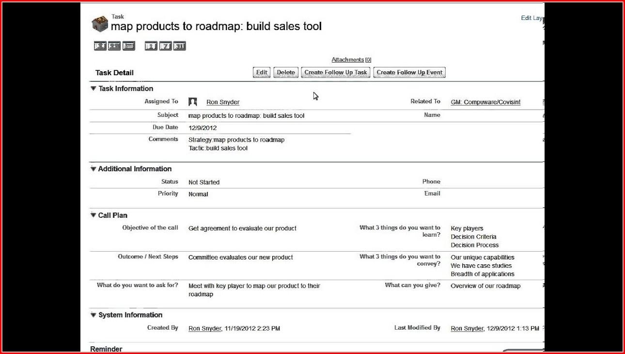 Sales Planner Template Excel