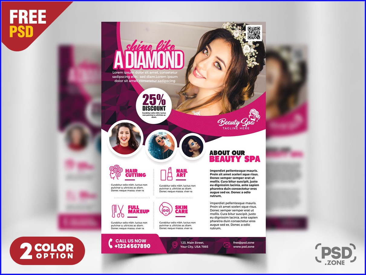 Salon Flyer Templates Free Download Psd