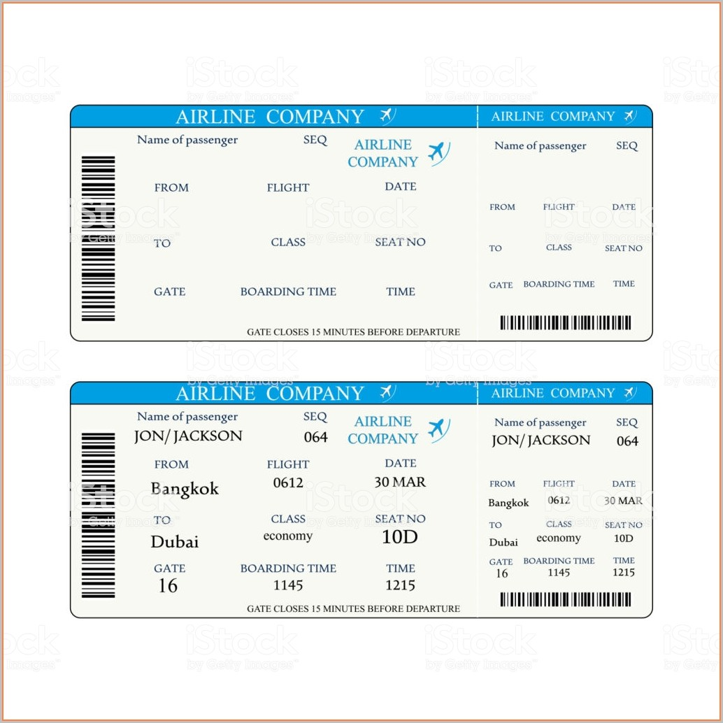 Save The Date Boarding Pass Template Free