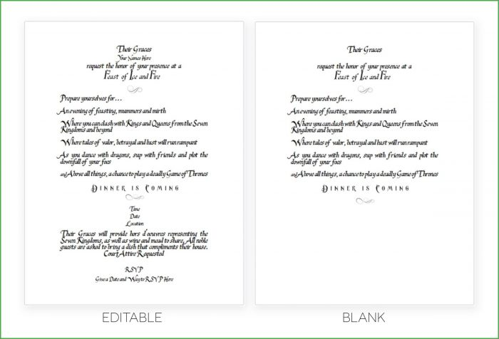 Scroll Invitation Templates Free