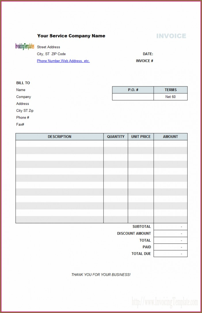 Self Employed Professional Services Invoice Template