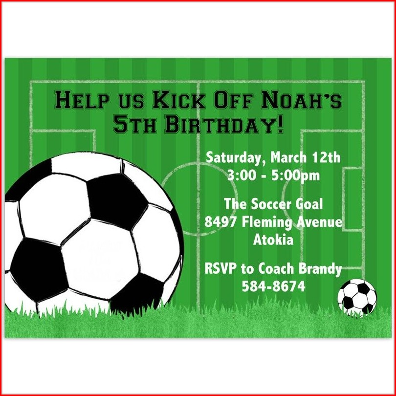 Soccer Party Invitation Template