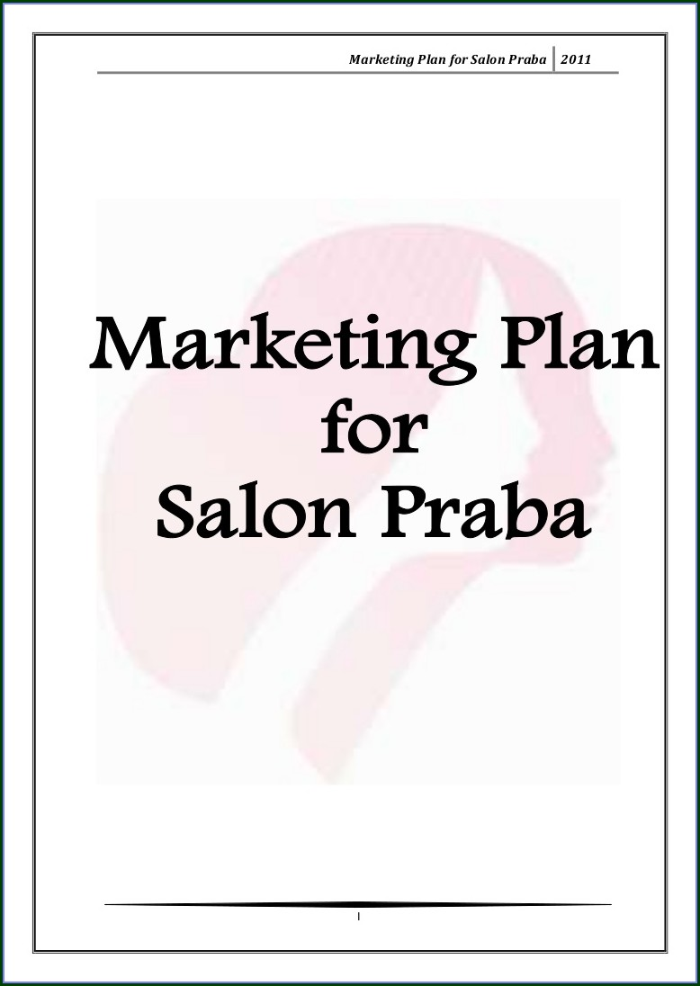 Spa Business Plan Template Free