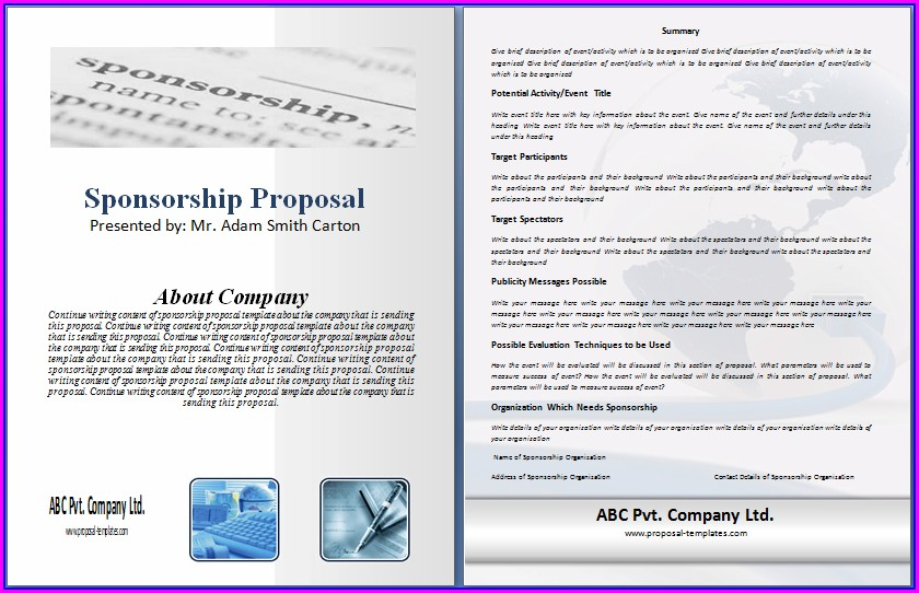 Sponsorship Proposal Template Free