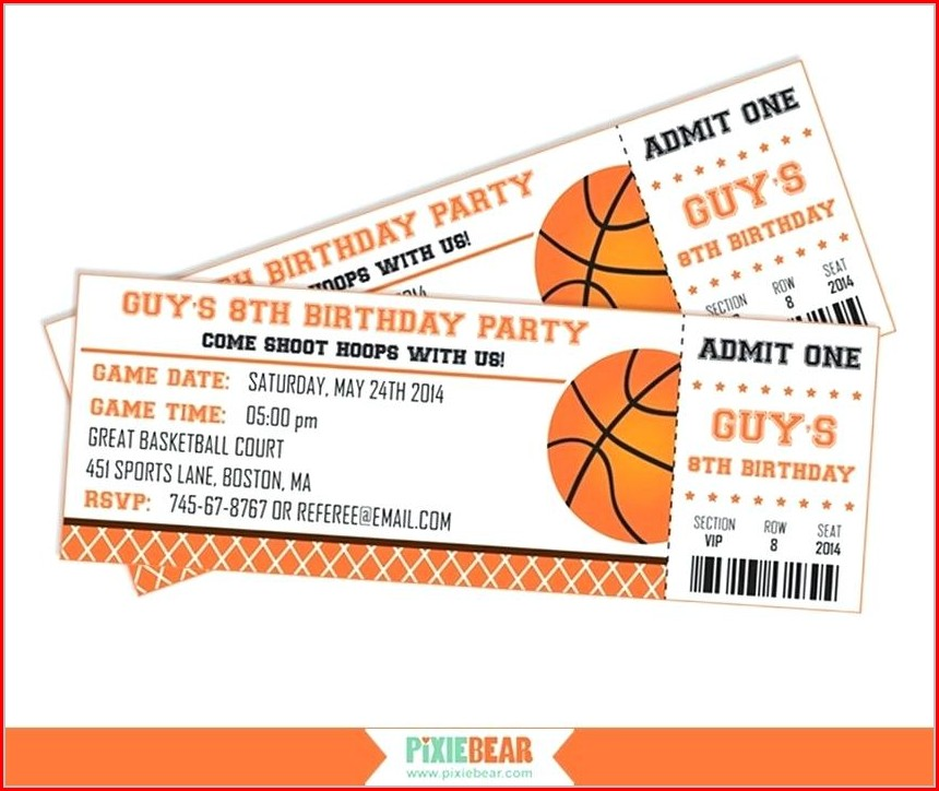 Sports Ticket Invitation Template Free