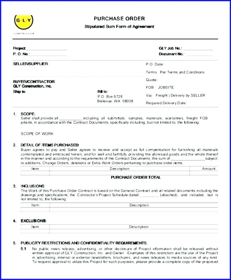 Subcontractor Bid Proposal Template
