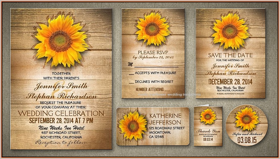 Sunflower Invitation Template