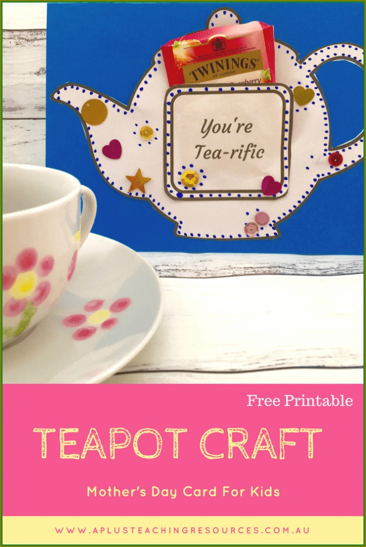 Teapot Card Template